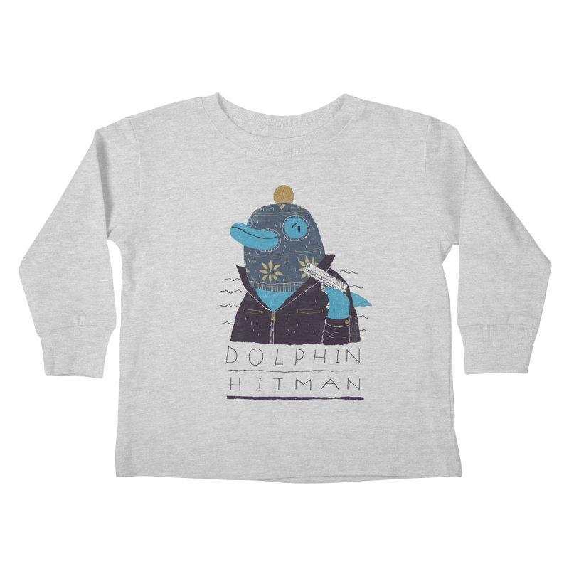 dolphin hitman Kids Toddler Longsleeve T-Shirt by louisros's Artist Shop