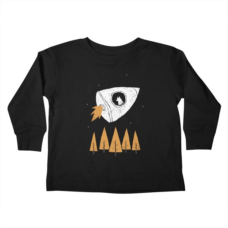 laika Kids Toddler Longsleeve T-Shirt by louisros's Artist Shop