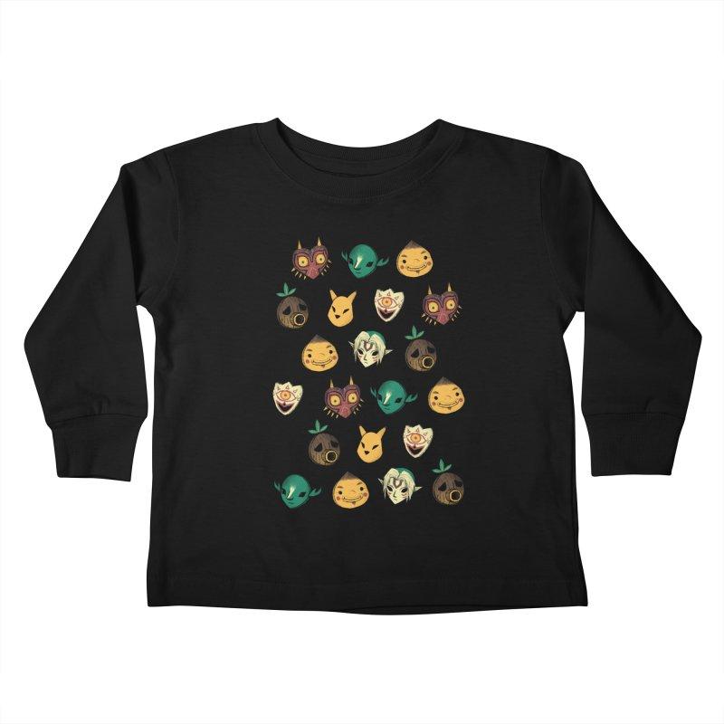 patter of masks Kids Toddler Longsleeve T-Shirt by louisros's Artist Shop
