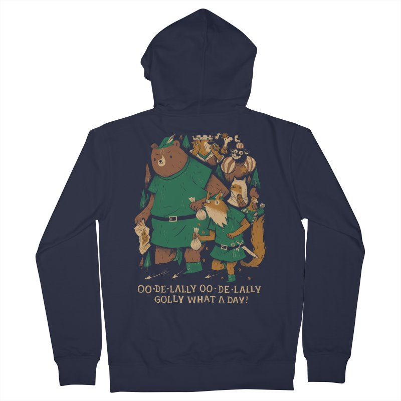 oo de lally Men's Zip-Up Hoody by louisros's Artist Shop