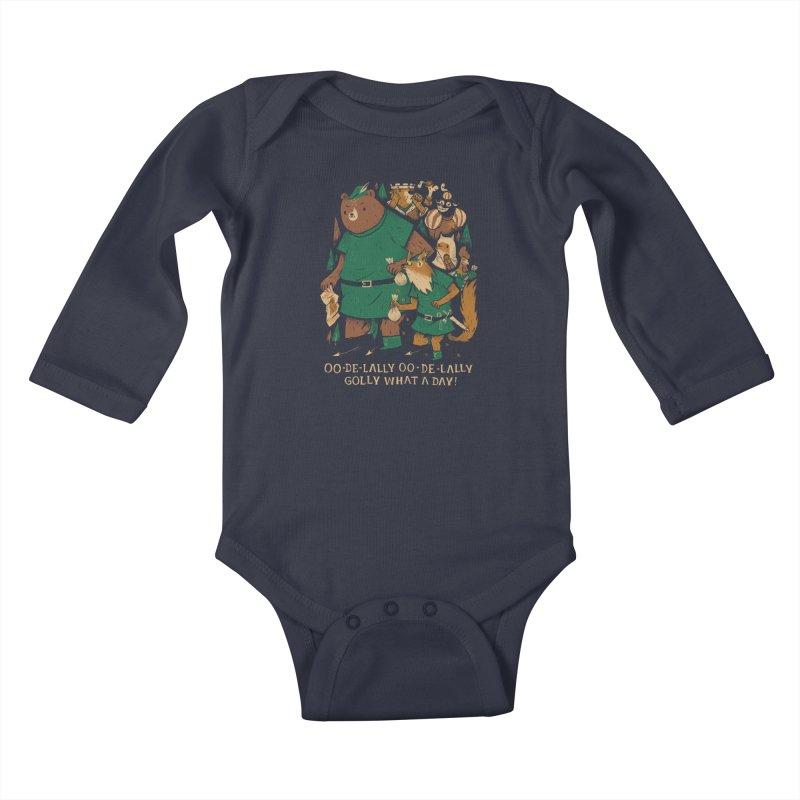 oo de lally Kids Baby Longsleeve Bodysuit by louisros's Artist Shop