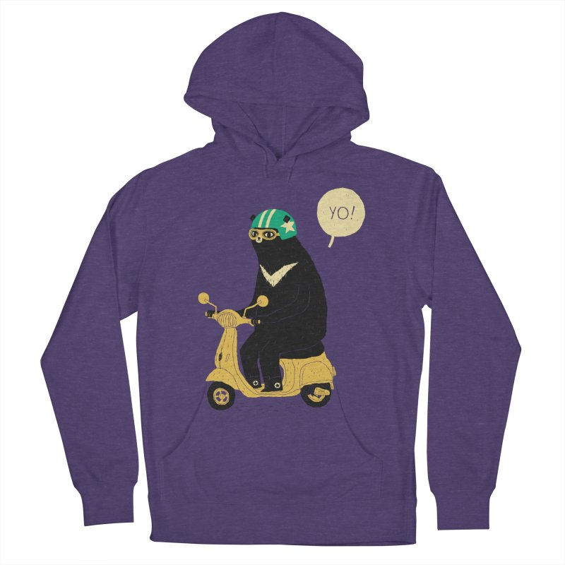 scooter bear Women's Pullover Hoody by louisros's Artist Shop