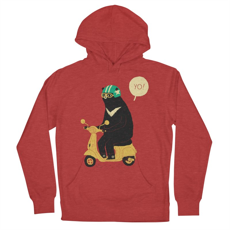 scooter bear Women's Pullover Hoody by louisros's Artist Shop