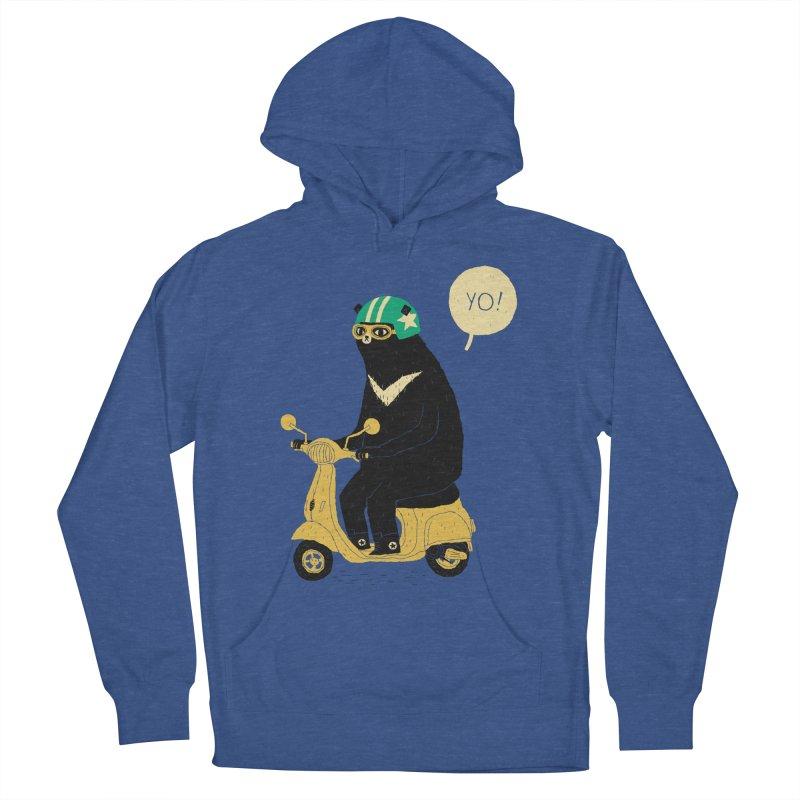 scooter bear Men's Pullover Hoody by louisros's Artist Shop