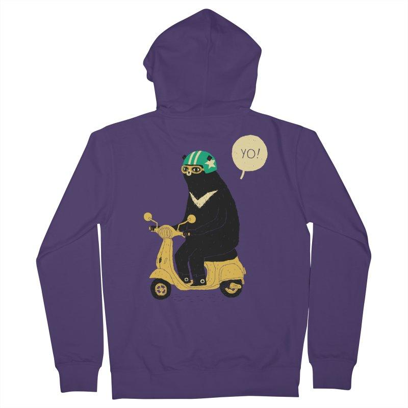 scooter bear Women's Zip-Up Hoody by louisros's Artist Shop