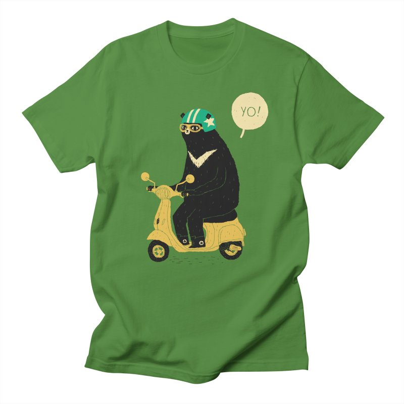 scooter bear Men's T-Shirt by louisros's Artist Shop