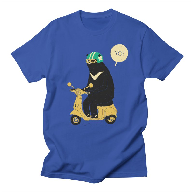 scooter bear Men's T-shirt by louisros's Artist Shop