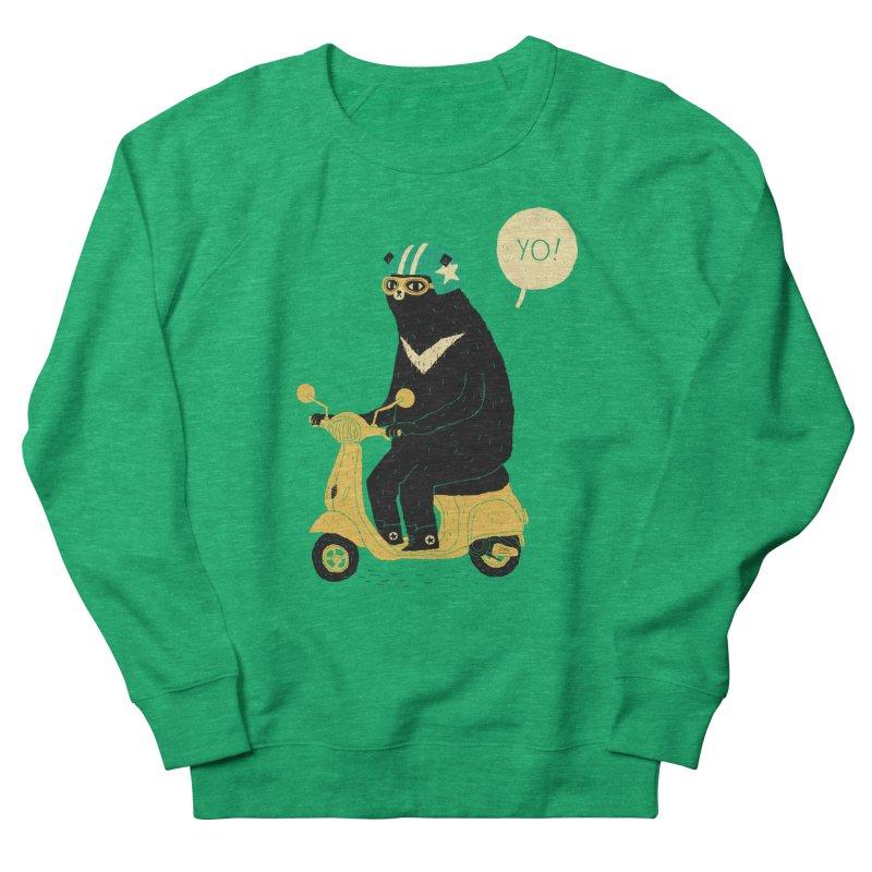 scooter bear Women's French Terry Sweatshirt by louisros's Artist Shop