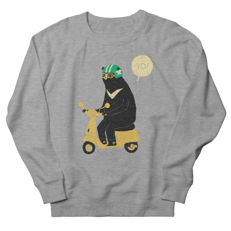 scooter bear Women's French Terry Sweatshirt by louisros's Artist Shop