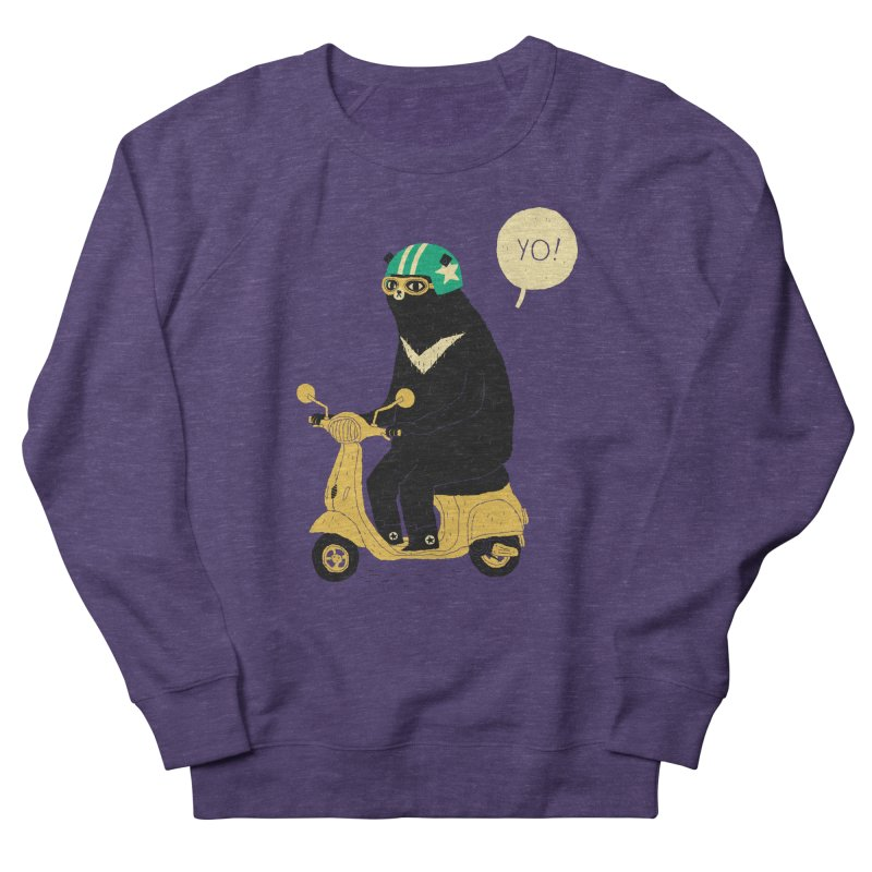 scooter bear Men's Sweatshirt by louisros's Artist Shop