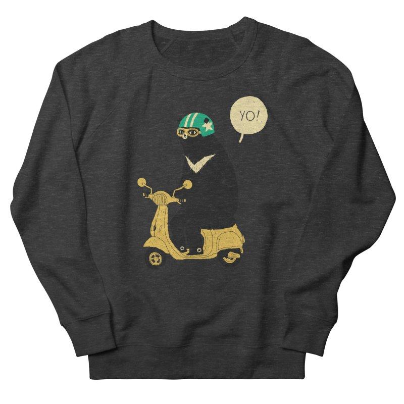 scooter bear Men's Sweatshirt by louisros's Artist Shop