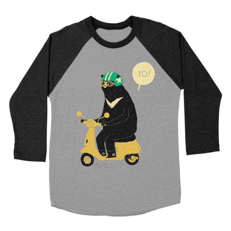 scooter bear Women's Baseball Triblend T-Shirt by louisros's Artist Shop