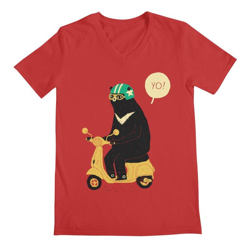 scooter bear Men's V-Neck by louisros's Artist Shop