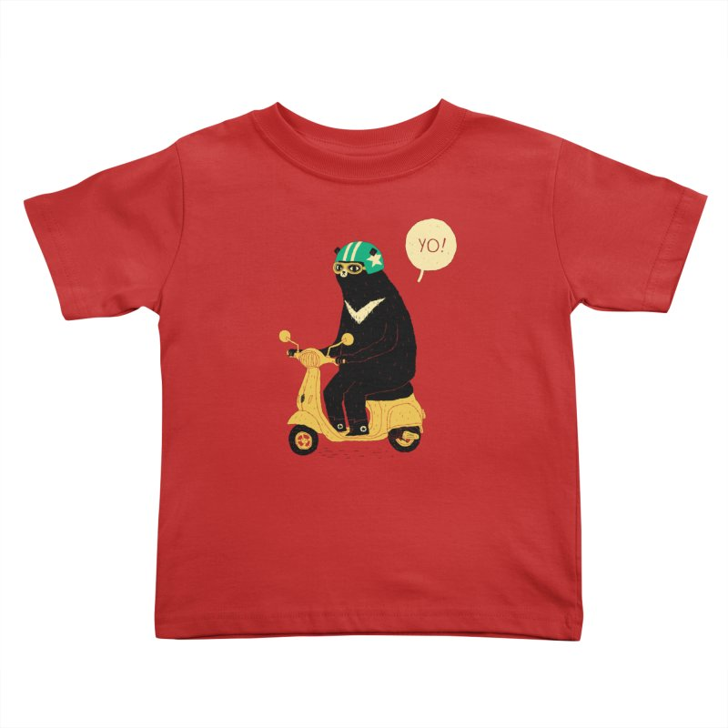 scooter bear Kids Toddler T-Shirt by louisros's Artist Shop