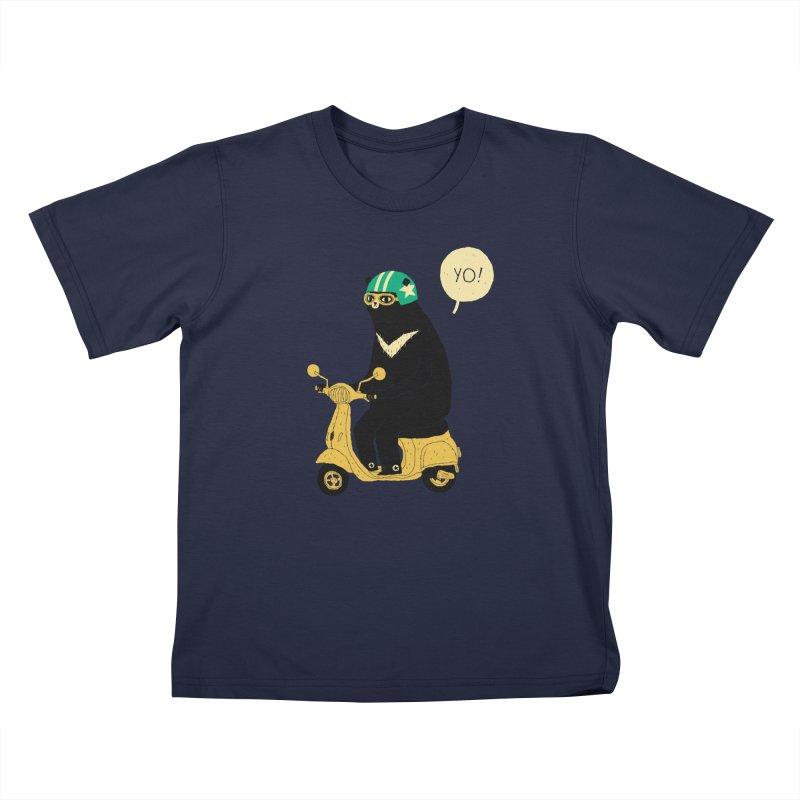 scooter bear Kids Toddler T-Shirt by louisros's Artist Shop