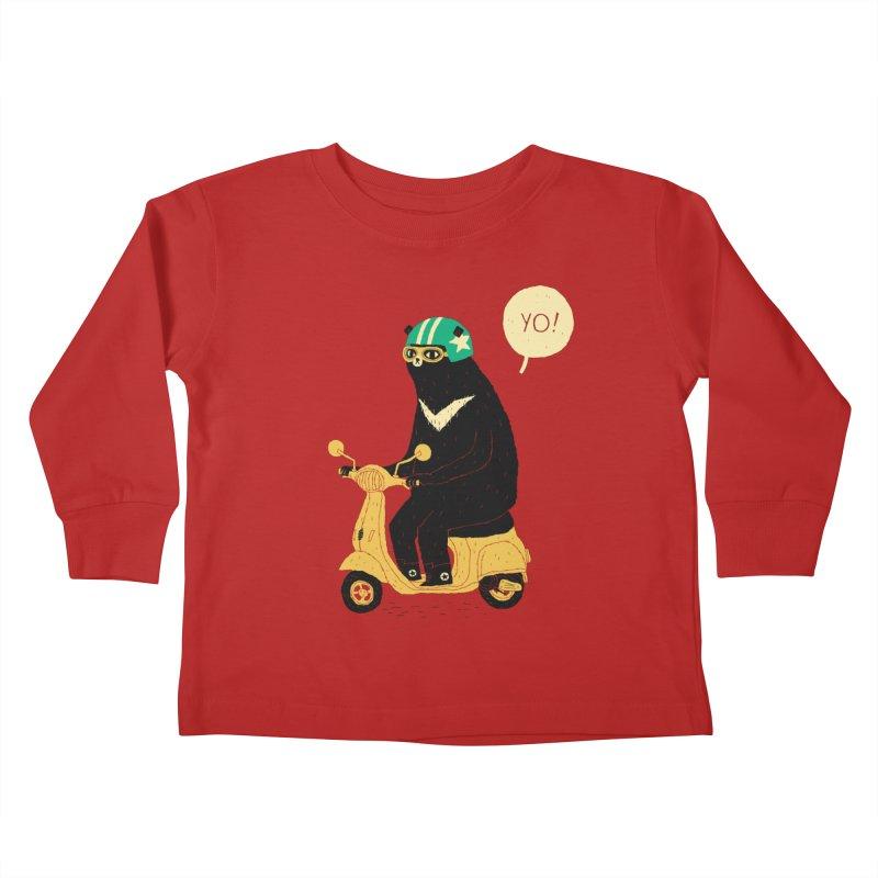 scooter bear Kids Toddler Longsleeve T-Shirt by louisros's Artist Shop