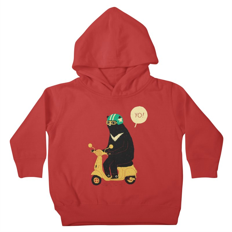 scooter bear Kids Toddler Pullover Hoody by louisros's Artist Shop