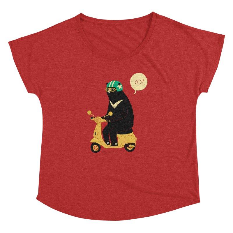 scooter bear Women's Dolman Scoop Neck by louisros's Artist Shop