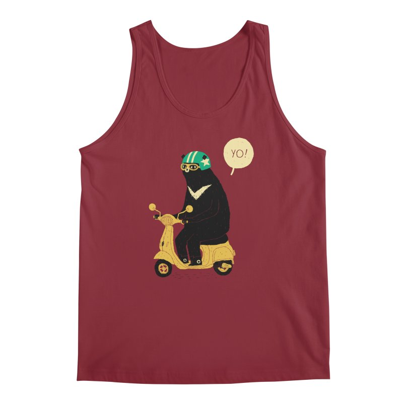 scooter bear Men's Regular Tank by louisros's Artist Shop