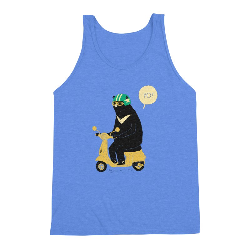scooter bear Men's Triblend Tank by louisros's Artist Shop