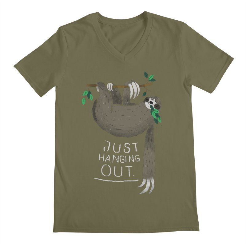 just hanging out Men's V-Neck by louisros's Artist Shop