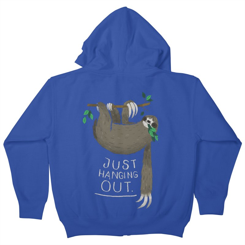 just hanging out Kids Zip-Up Hoody by louisros's Artist Shop
