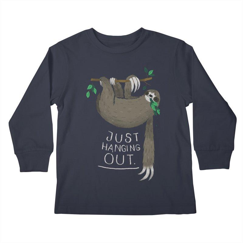 just hanging out Kids Longsleeve T-Shirt by louisros's Artist Shop