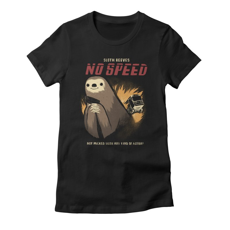 no speed Women's Fitted T-Shirt by louisros's Artist Shop
