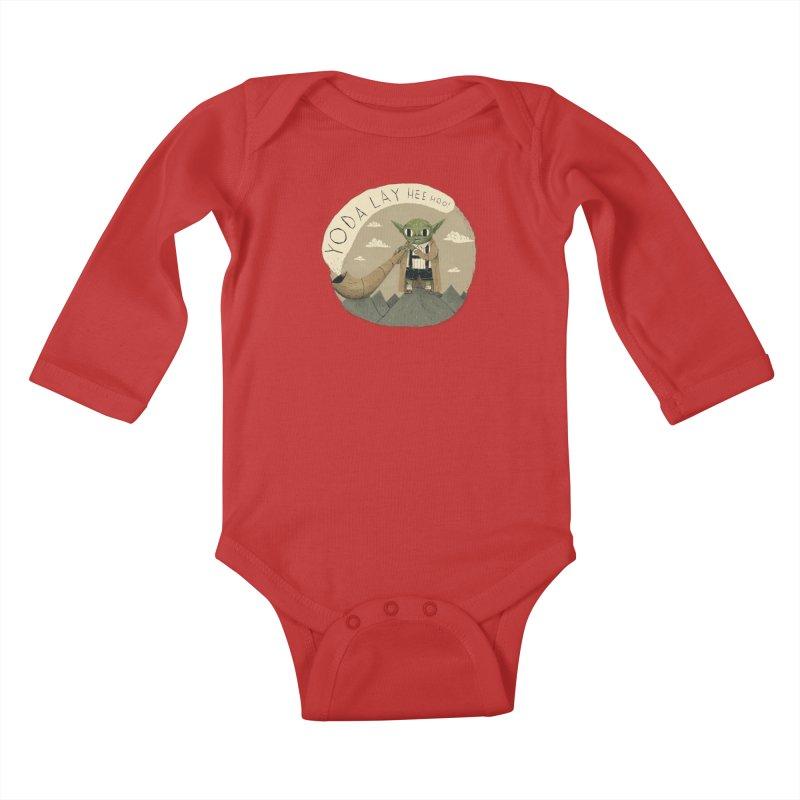yodaling Kids Baby Longsleeve Bodysuit by louisros's Artist Shop