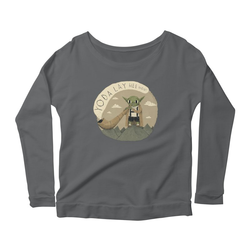 yodaling Women's Longsleeve Scoopneck  by louisros's Artist Shop