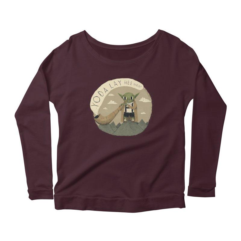 yodaling Women's Scoop Neck Longsleeve T-Shirt by louisros's Artist Shop