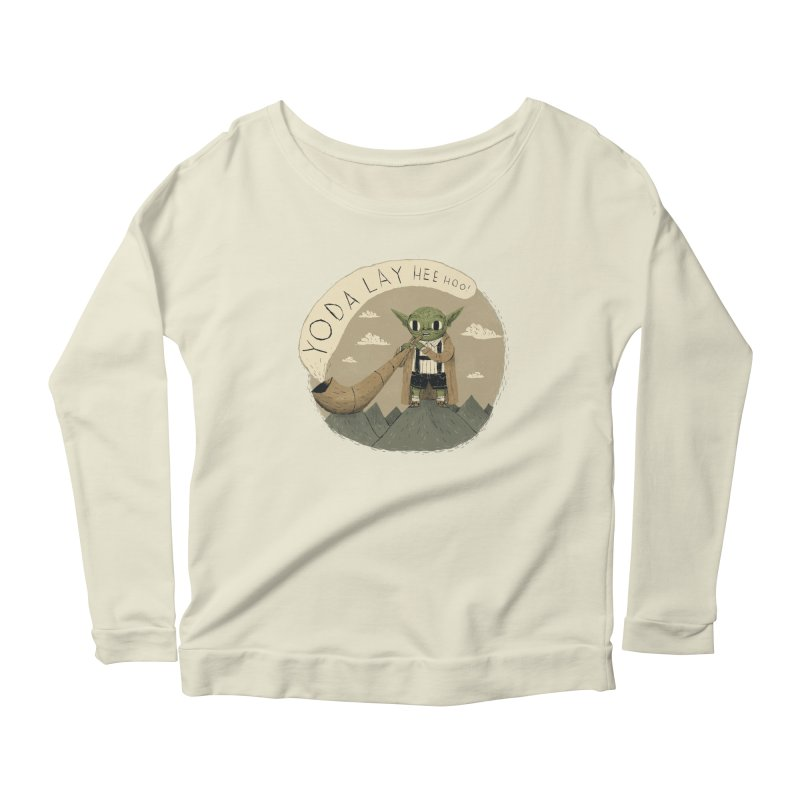 yodaling Women's Scoop Neck Longsleeve T-Shirt by louisros's Artist Shop