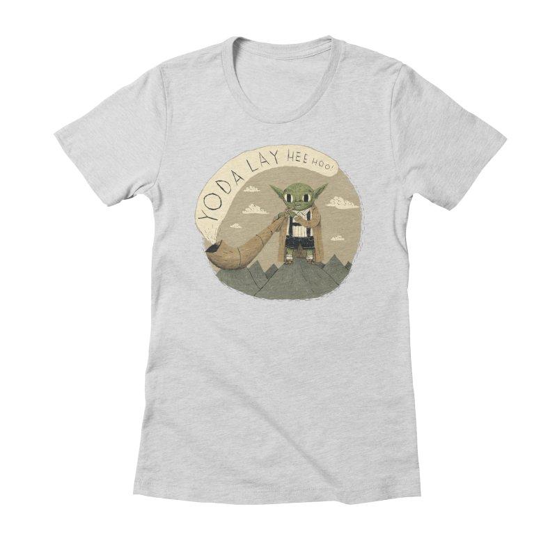 yodaling Women's Fitted T-Shirt by louisros's Artist Shop