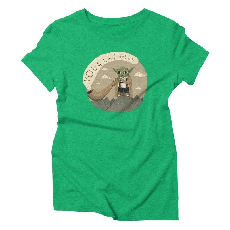 yodaling Women's Triblend T-shirt by louisros's Artist Shop