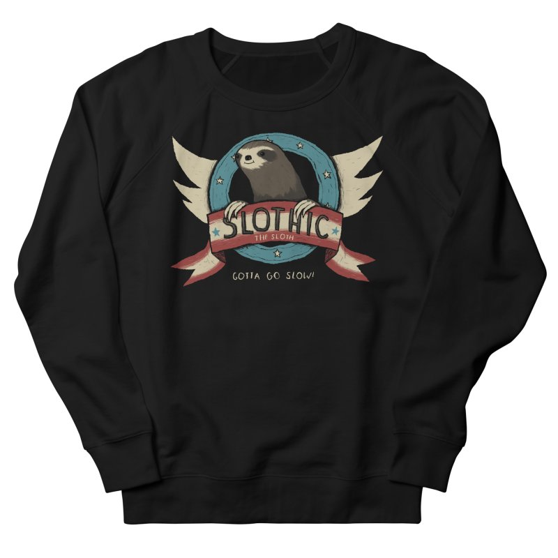 slothic Women's French Terry Sweatshirt by louisros's Artist Shop