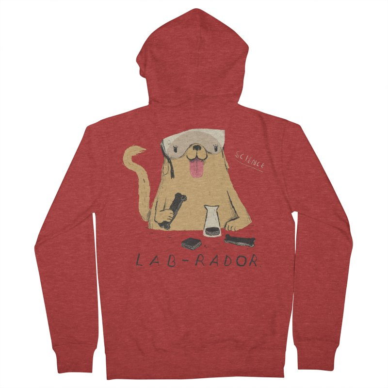 lab-rador Men's Zip-Up Hoody by louisros's Artist Shop