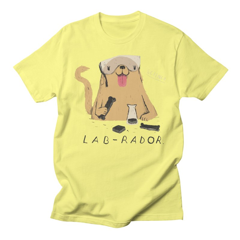 lab-rador Men's T-shirt by louisros's Artist Shop