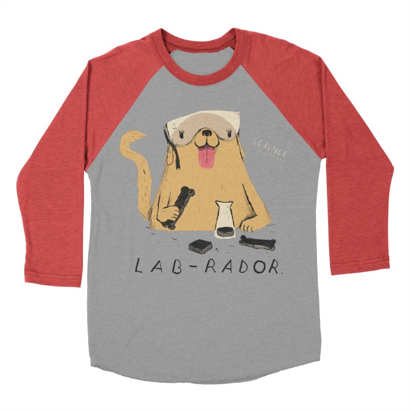 lab-rador Men's Baseball Triblend T-Shirt by louisros's Artist Shop