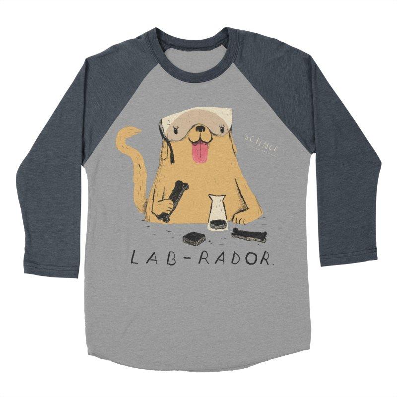 lab-rador Men's Baseball Triblend T-Shirt by louisros's Artist Shop