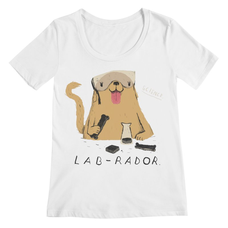 lab-rador Women's Scoopneck by louisros's Artist Shop