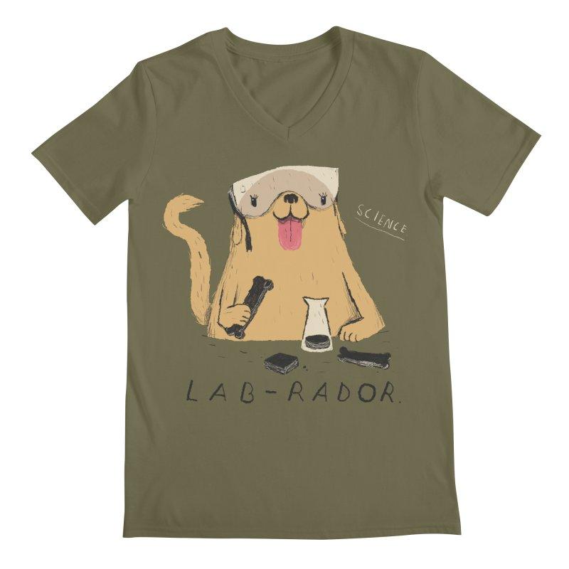lab-rador Men's V-Neck by louisros's Artist Shop