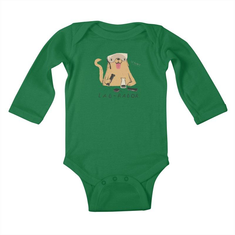 lab-rador Kids Baby Longsleeve Bodysuit by louisros's Artist Shop