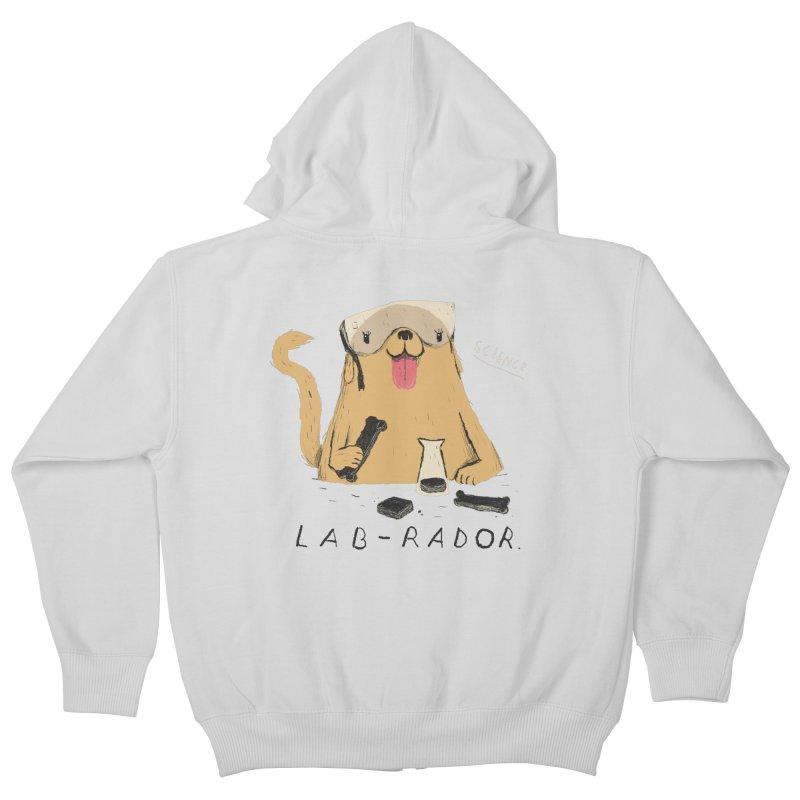 lab-rador Kids Zip-Up Hoody by louisros's Artist Shop