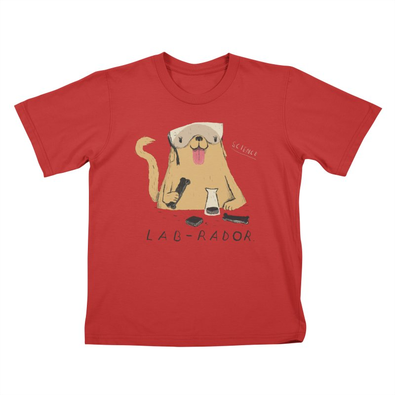 lab-rador Kids T-Shirt by louisros's Artist Shop