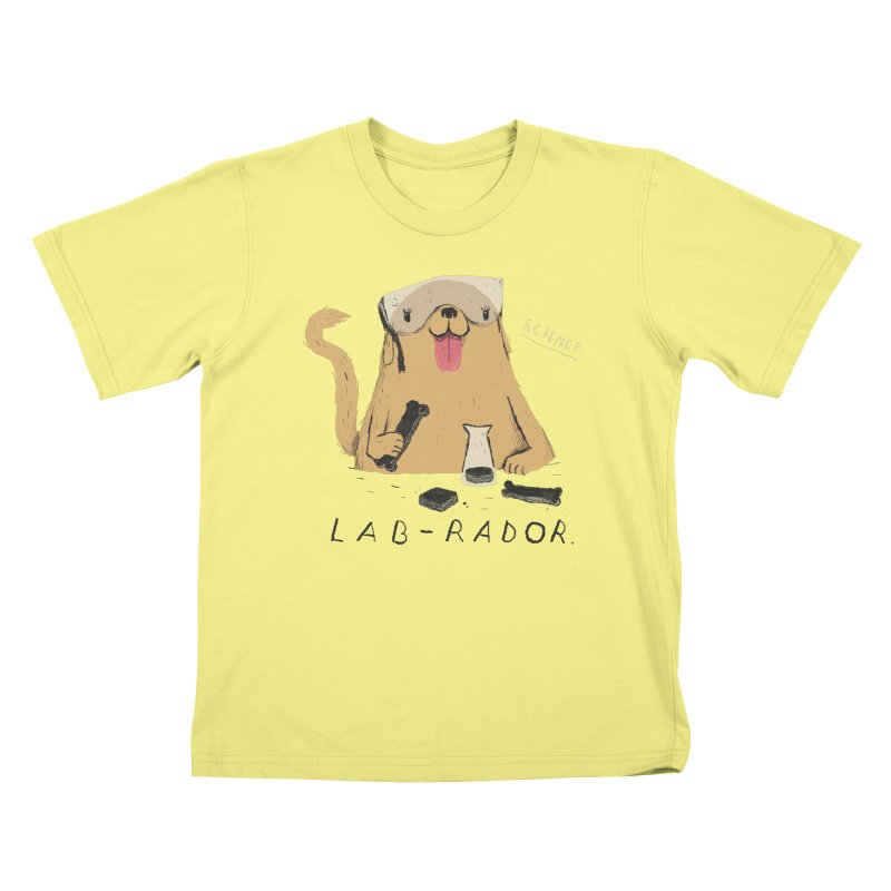 lab-rador Kids T-shirt by louisros's Artist Shop