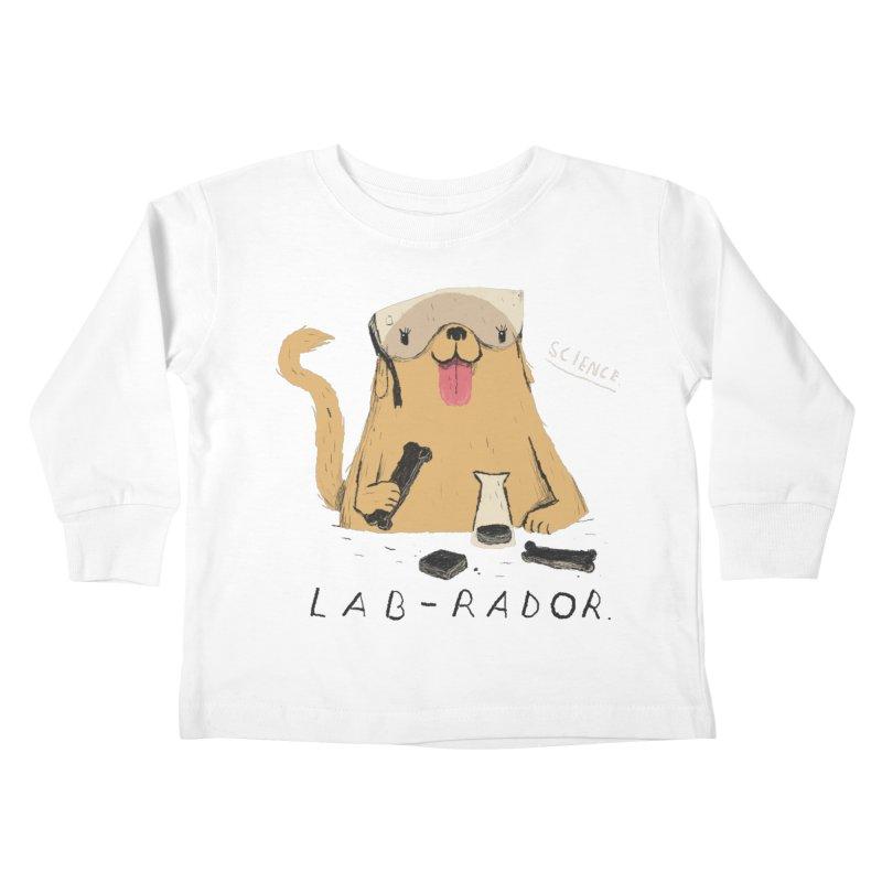 lab-rador Kids Toddler Longsleeve T-Shirt by louisros's Artist Shop