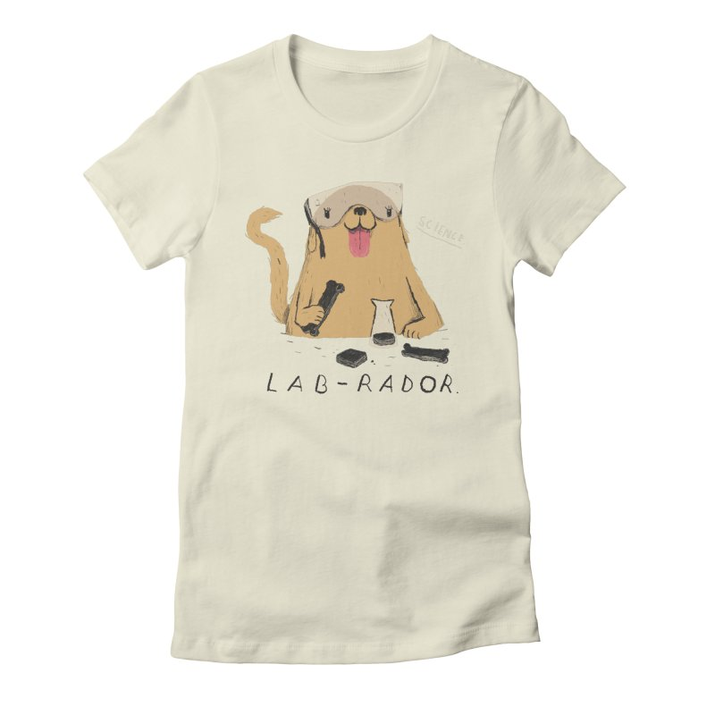 lab-rador Women's Fitted T-Shirt by louisros's Artist Shop