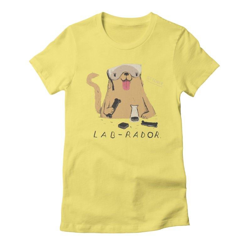 lab-rador Women's Fitted T-Shirt by louisros's Artist Shop