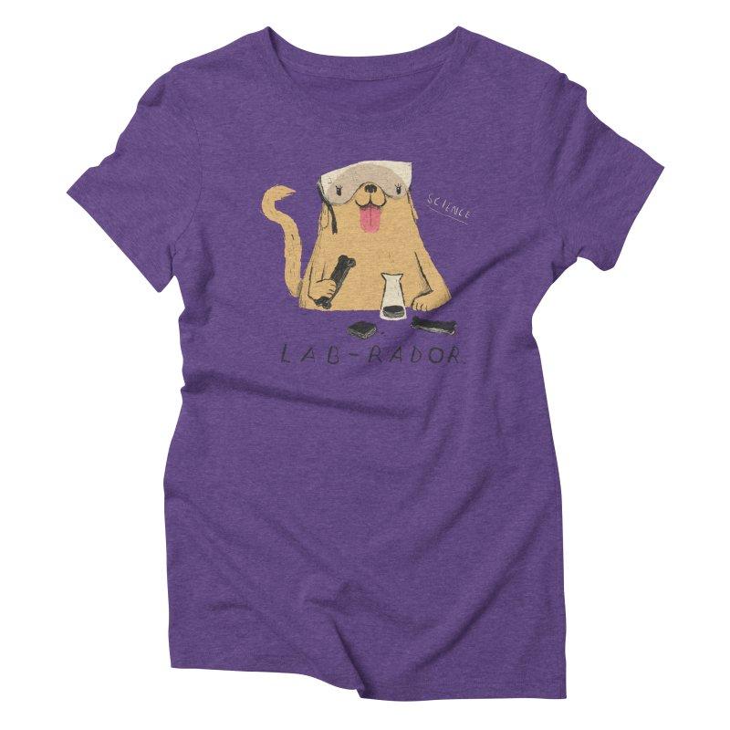 lab-rador Women's Triblend T-Shirt by louisros's Artist Shop