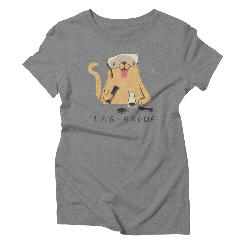 lab-rador Women's Triblend T-shirt by louisros's Artist Shop